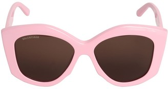 Balenciaga 0126s Power Oversize Cat-Eye Sunglasses