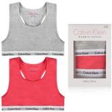 Calvin Klein Calvin KleinGirls Grey & Pink Bralette Set (2 Pack)