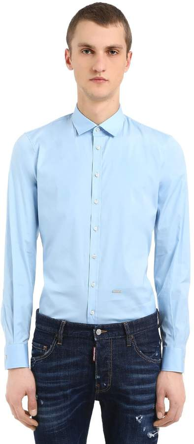 DSQUARED2 Stretch Cotton Poplin Shirt