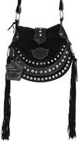 EL VAQUERO Texi Studded Fringed Suede Shoulder Bag
