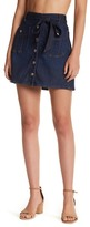 7 For All Mankind Denim A-Line Mini Skirt