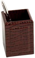Bey-Berk Croco Leather Pen Cup