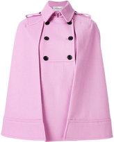 Valentino double breasted cape coat