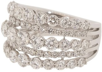 Kwiat 18kt White Gold Five Line Diamond Ring