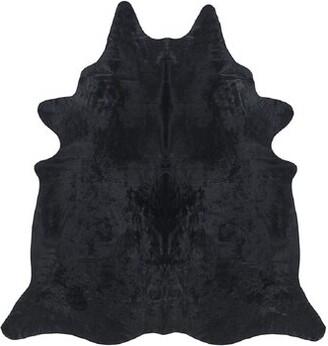 """Saddlemans Handmade Cowhide Black Area Rug Rug Size: Novelty 6' x 7'6"""""""