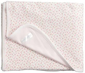 Polo Ralph Lauren Kids Floral-Print Cotton Blanket (White Multi Floral/White) Blankets
