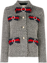 Gucci tweed jacket with bows - women - Silk/Cotton/Polyamide/Acetate - 42