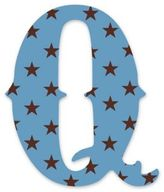 "Wall Candy Arts WallCandy Arts WallCandy Luv Letters Stars Letter ""Q"" Wall Decal in Blue"