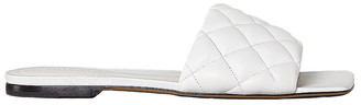 Bottega Veneta Leather Quilted Slides in Optic White | FWRD