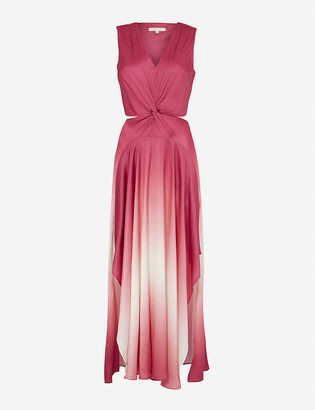 Maje Resia satin maxi dress