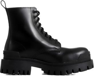 Balenciaga Black Lace-up Boots