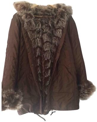 Gerard Darel Brown Fox Coat for Women