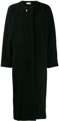 Versace Pre-Owned 1980's Collarless Loose Coat