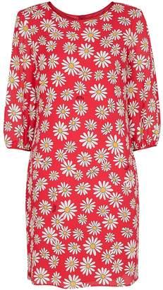 Moschino Red Daisy-print Mini Dress
