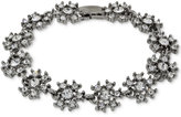 2028 Silver-Tone Crystal Snowflake Link Bracelet