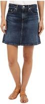 AG Adriano Goldschmied The Ali A-Line Mini Denim Skirt in Indigo