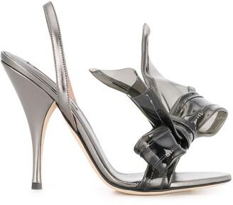 Marco De Vincenzo Bow-Embellished Sandals