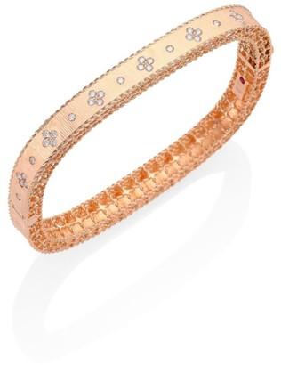 Roberto Coin Princess Diamond & 18K Rose Gold Bangle Bracelet