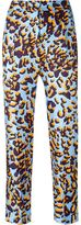 MSGM graphic print trousers - women - Silk/Polyester - 40