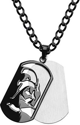 Star Wars Jewelry Unisex Darth Vader Layer Stainless Steel Dog Tag Chain Pendant Necklace
