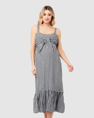 Ripe Maternity Gingham Nursing Dress