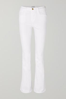 Frame Le High Flare Jeans - White