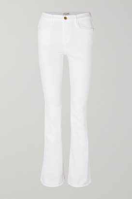 Frame Le High Flare Jeans - White