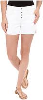 Mavi Jeans Emily Mid-Rise Relaxed Shorts in Summer White Boho