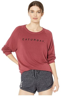 good hYOUman Dave Caturday Pullover (Cinnamon) Women's Clothing