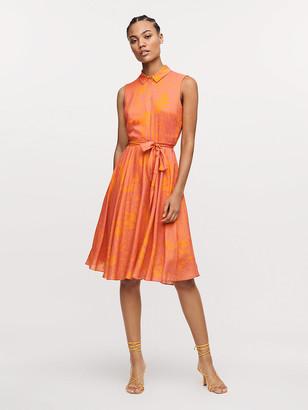 Diane von Furstenberg Harmony Voile-Blend Belted Dress