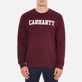 Carhartt Men's College Sweatshirt Chianti/White