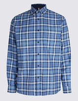 Blue Harbour Luxury Brushed Checked Shirt