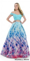 Morrell Maxie Two Piece Off the Shoulder Ombre Ball Gown