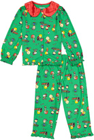 Komar Kids Green & Red Peanuts Collared Pajama Set - Toddler