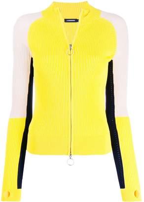 J. Lindeberg colour-block zipped cardigan