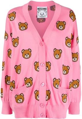 Moschino Teddy Bear Pattern Cardigan