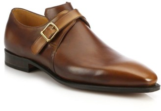Corthay Arca Buckle Pullman French Leather Dress Shoes