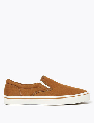 Marks and Spencer Canvas Slip-On Pumps