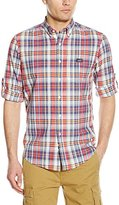 U.S. Polo Assn. Men's Long Sleeve Classic Fir Madras Plaid Sport Shirt