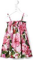 Dolce & Gabbana rose print floral dress - kids - Cotton - 24 mth
