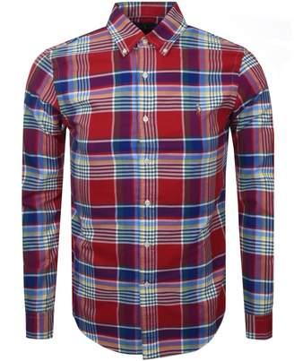 Ralph Lauren Long Sleeved Check Shirt Red