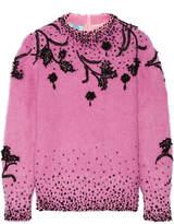 Prada Beaded Mohair-blend Sweater - Pastel pink