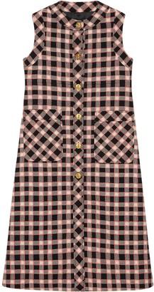 Gucci Check Print Sleeveless Jacket