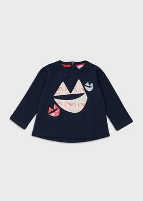 Emporio Armani Jersey Sweater With Decorative Print