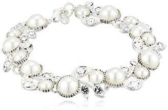Napier Women's Boxed 7.5 inch Pearl Flower Bracelet