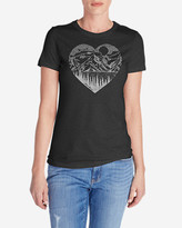 Eddie Bauer Women's Graphic T-Shirt - Mountain Heart