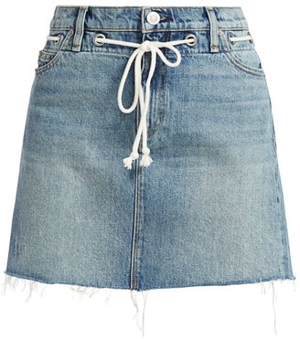 Hudson Grommet Tie-Waist Denim Mini Skirt