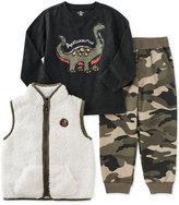 Kids Headquarters 3-Pc. Faux-Fur Vest, T-Shirt & Pants Set, Baby Boys (0-24 months)
