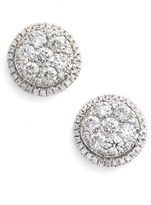 Women's Bony Levy 'Mika' Round Halo Diamond Stud Earrings (Nordstrom Exclusive)