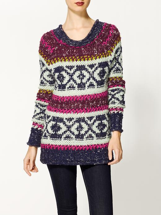 Free People Mixed Yarn Silver Reed Pullover